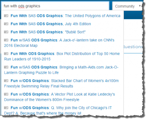 Binge on this series: Fun with ODS Graphics