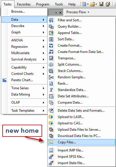 Copy Files in new menu