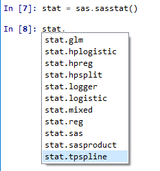 SAS/STAT object in SASPy
