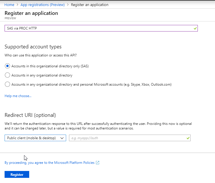 Using SAS to access and update files on Microsoft OneDrive