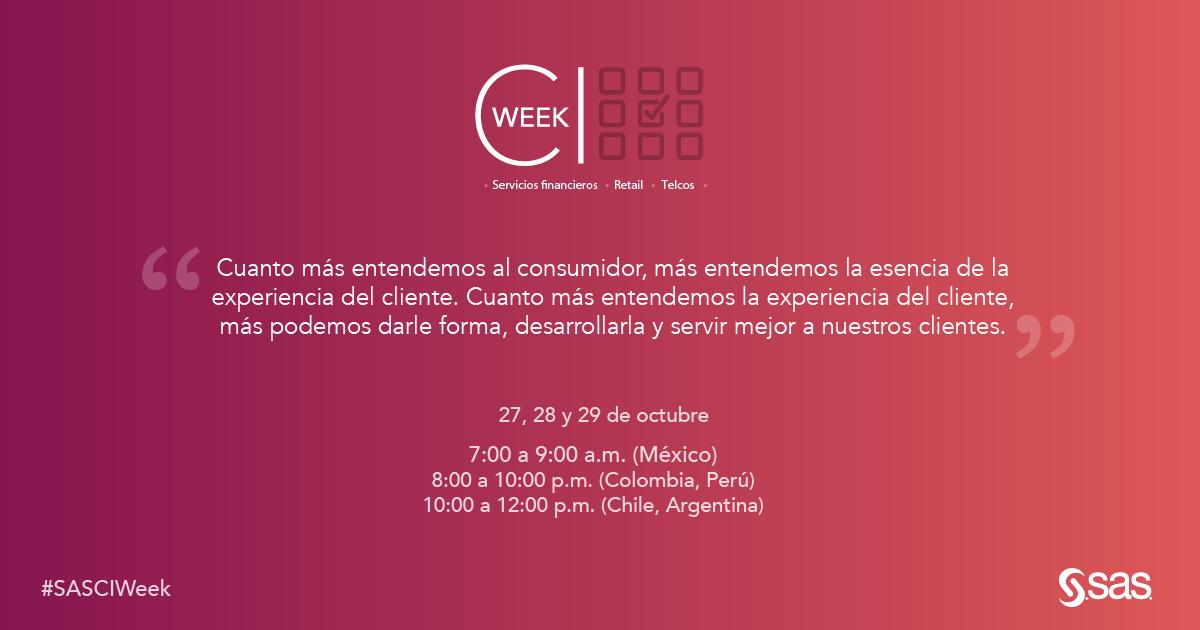 CI Week Latam: conectados con el reto de descubrir cómo crear experiencias memorables para los clientes