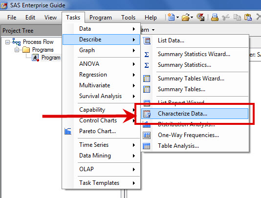 Get a quick summary of your data using this task.