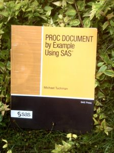 PROC DOCUMENT by Example
