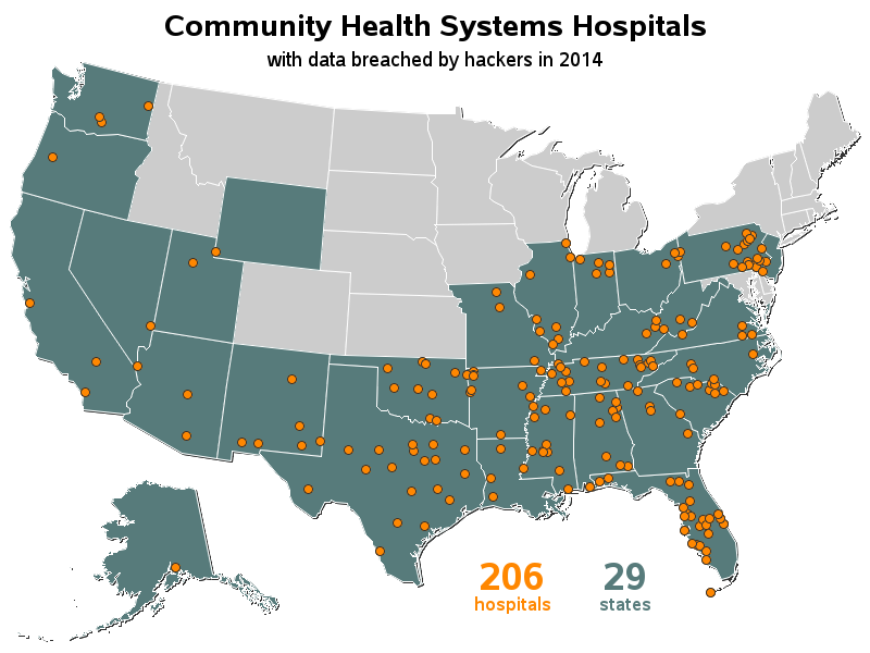 Map Of California Hospitals.Mapping 206 Hospitals In 29 States The Sas Training Post