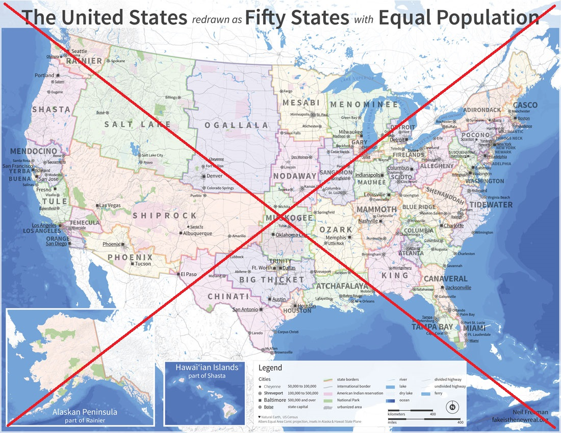 If Us State Borders Were Redrawn Which New State Would You Live In