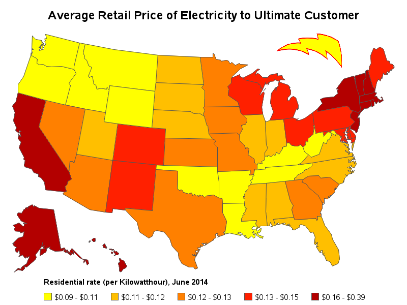 How Well Did Your State Do You Have Any Theories As To Why Electricity Costs Vary By Leave A Comment With Thoughts