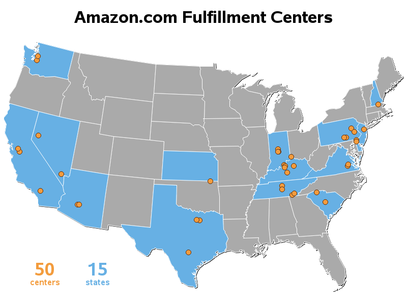 why does amazon need so many distribution centers The company could expand grocery delivery to as many as 40 major urban areas so why npr's audie cornish but amazon distribution centers.