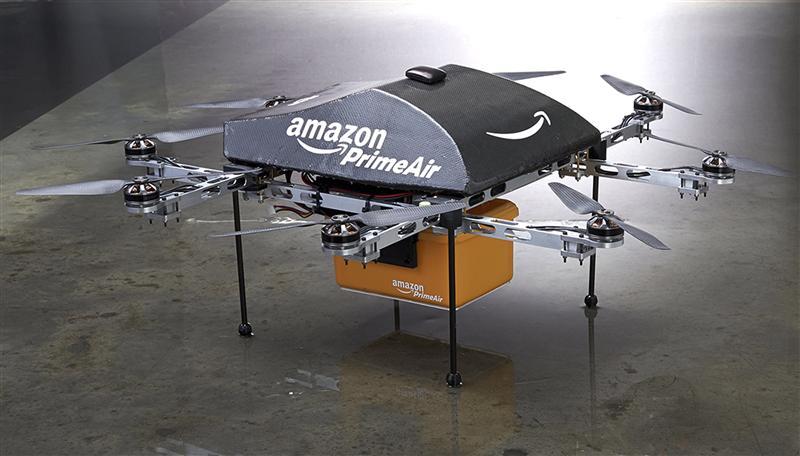 AMAZON TESTE LA LIVRAISON DE COLIS PAR DES DRONES