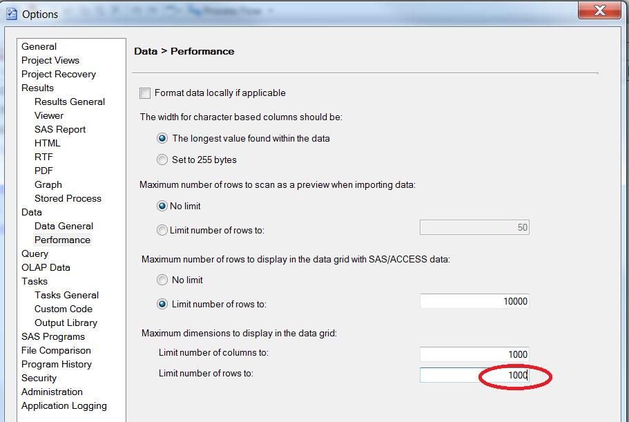 Sas no log output option internet