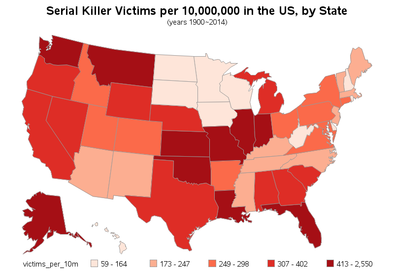 Map Of Current Serial Killers In The Us Pictures To Pin On - Map of serial killers are active in the us