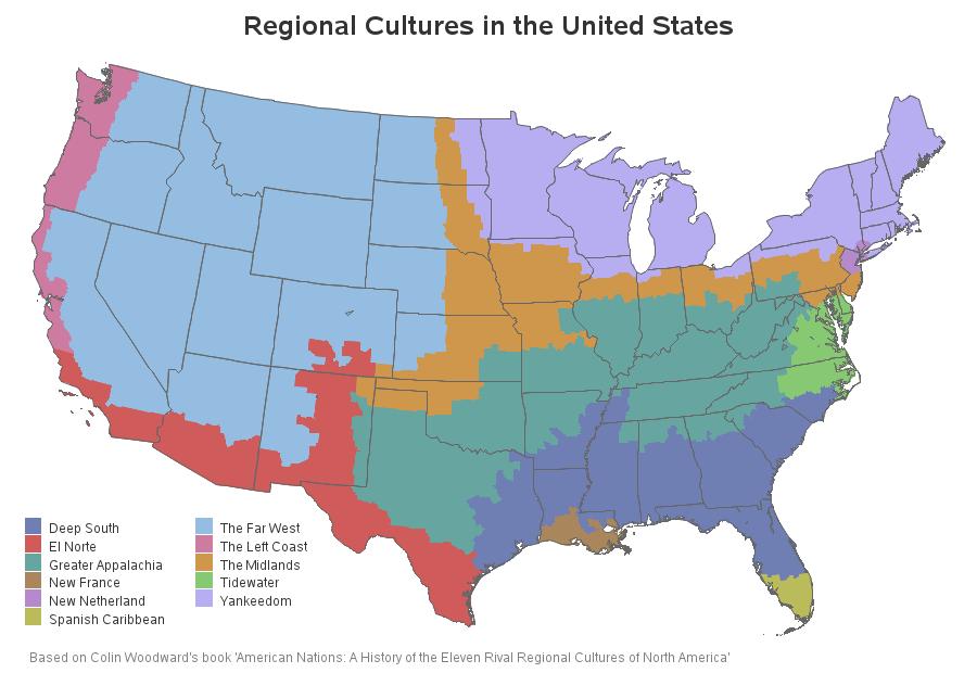 US Regional Cultures Map