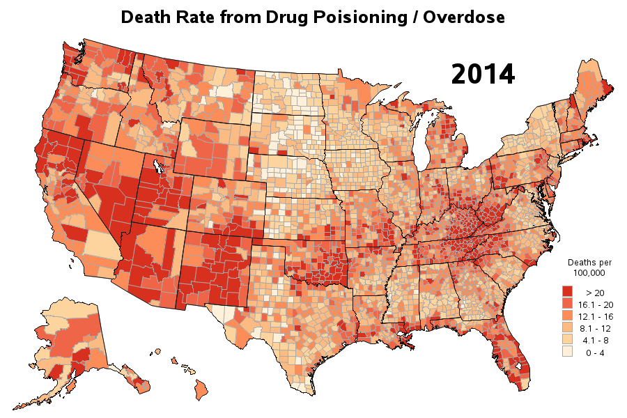 Drug Overdose Deaths Are On The Rise In The US SAS Learning Post - Price map of heroin to the us