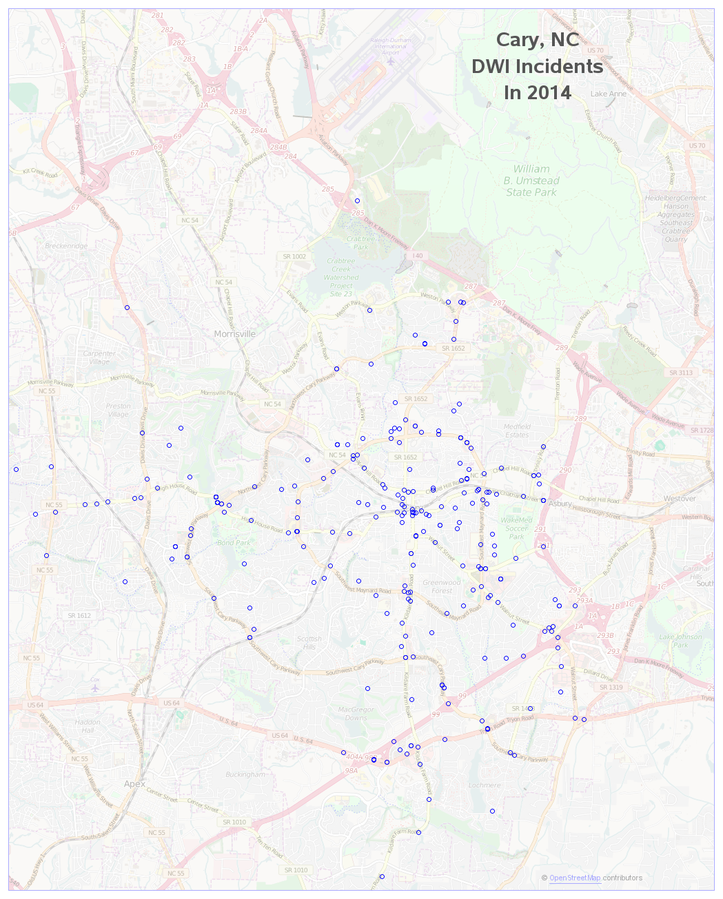 cary_crime_dwi_map_2014