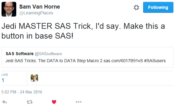 "Tweet says ""Make this a button in base SAS"""
