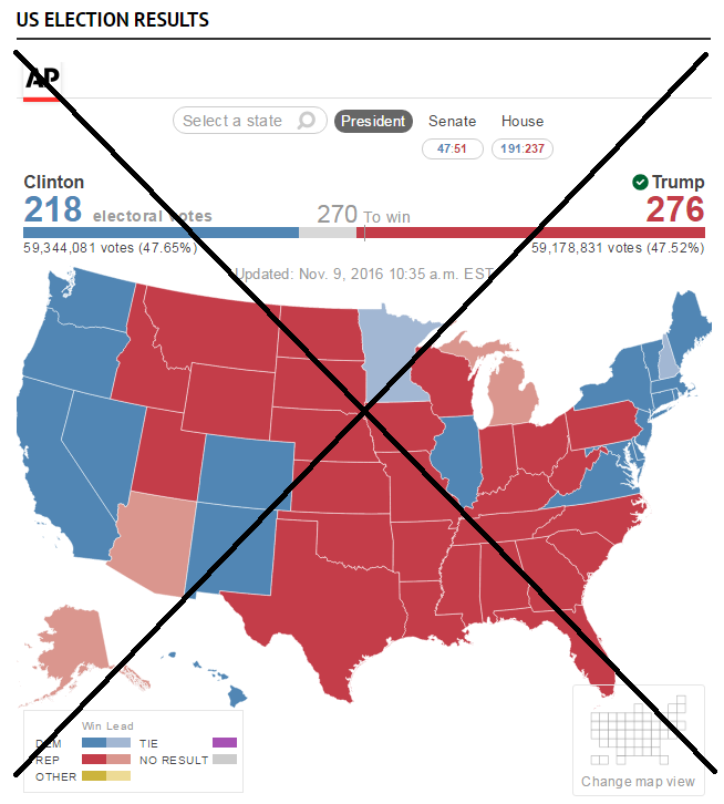 You Need A Custom Map For US Presidential Election Results SAS - Us presidential election 2016 map vote