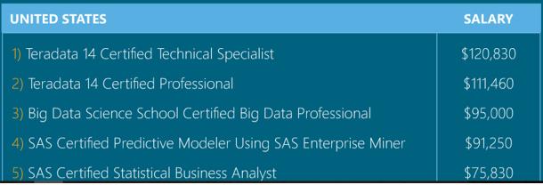 Do SAS Big Data credentials equal big professional value