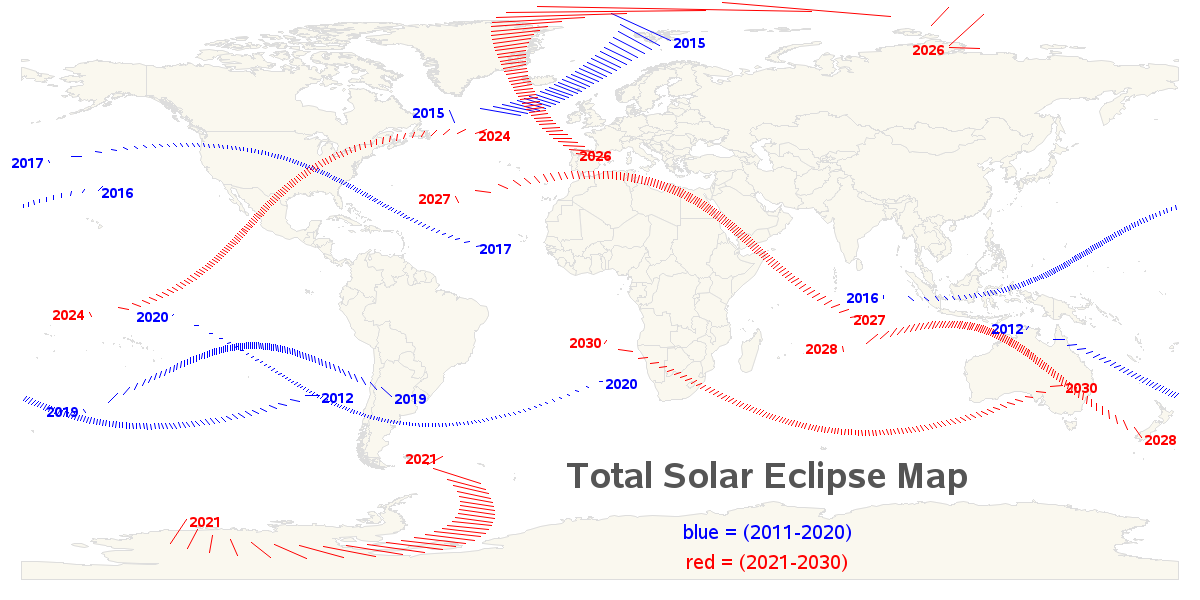 Nasa Interactive Solar Eclipse Map.When S The Next Total Solar Eclipse Sas Learning Post