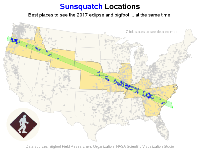 Nasa Interactive Solar Eclipse Map.Sunsquatch Tracking The Eclipse And Bigfoot At The Same Time