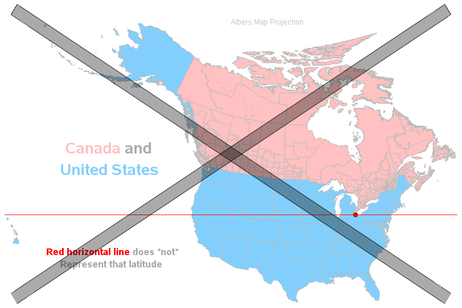 So  US States Are Farther North Than Canada Eh SAS Learning - Horizontal us map