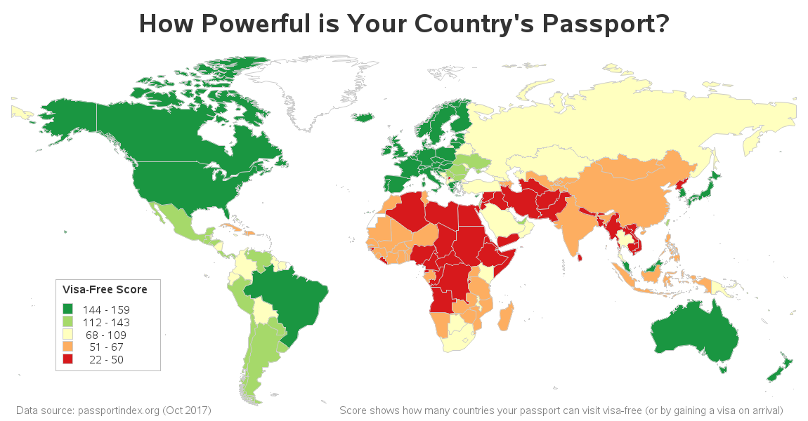 Which Country Has The Most Powerful Passport SAS Learning Post - Who is the most powerful country in the world