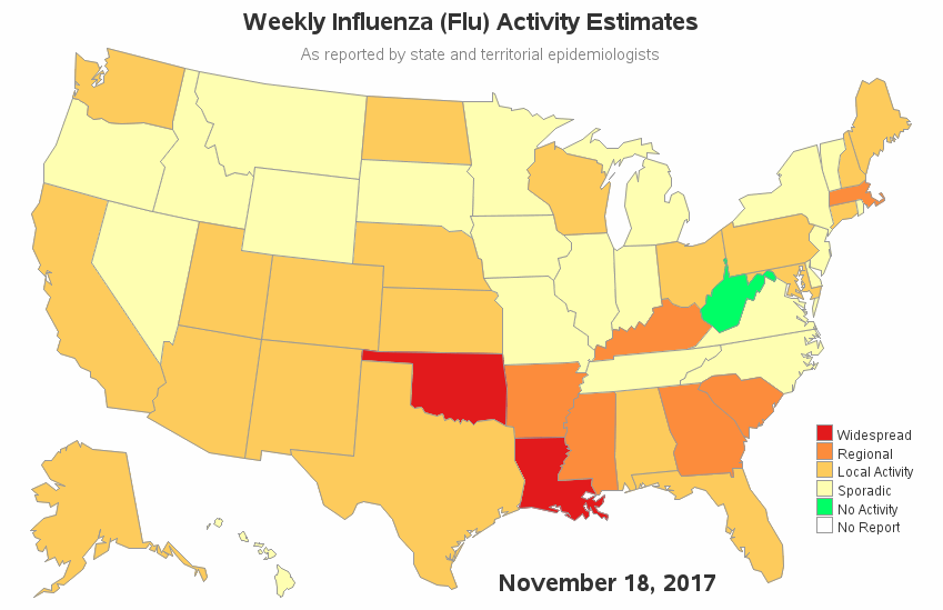 Flu Map Us 2018 Building a better flu map!   SAS Learning Post