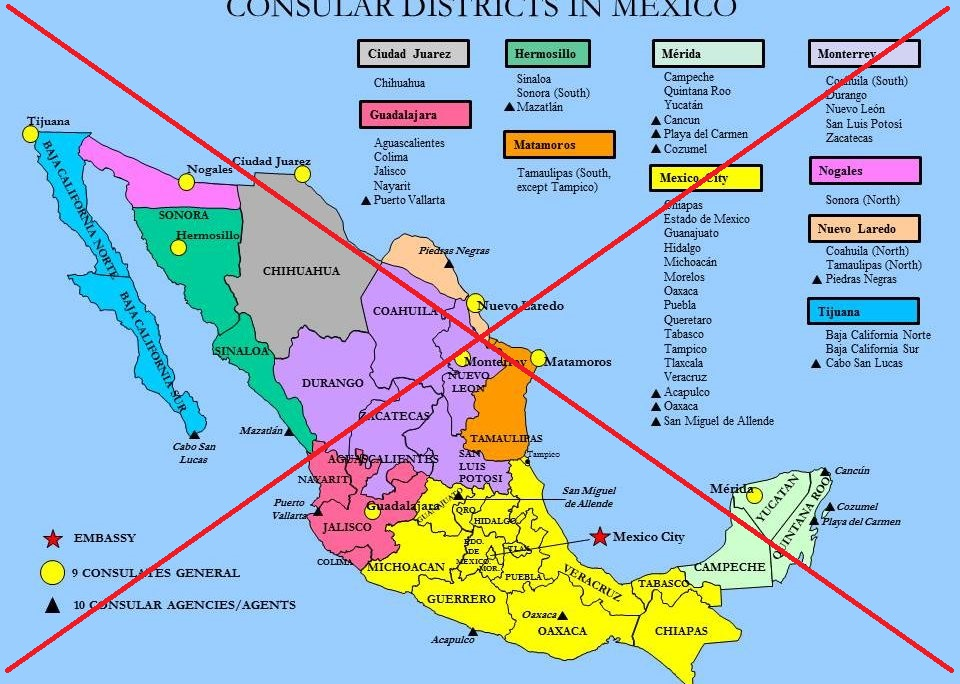 so where in mexico is the us consulate there are actually several heres a map from the usembassygov website