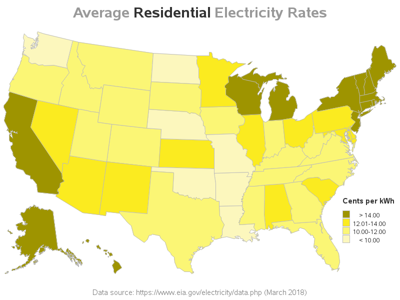 I Emphasized The Word Residential In Le So You Can Quickly Tell That S What This Map Is About There A Second For Commercial Rates