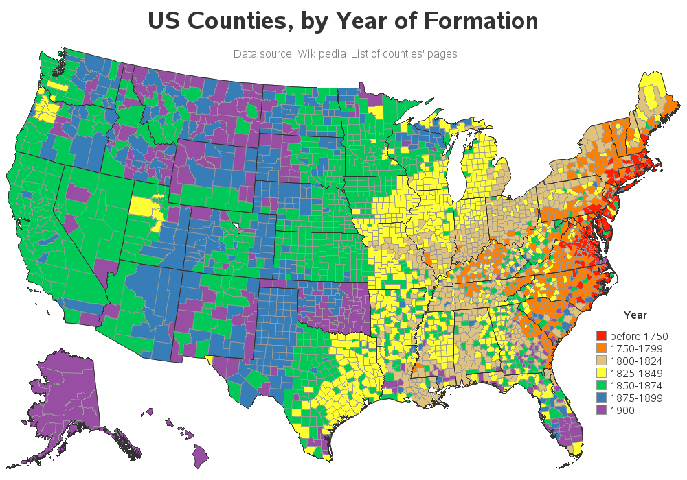 How old is your county? - SAS Learning Post
