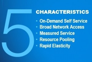 NIST 5 characteristics of cloud computing
