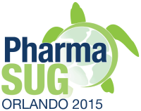 PharmaSUG 2015 logo with sea turtle image and Orlando 2015