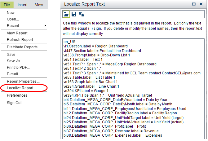 sas visual analytics localize your reports to support multiple