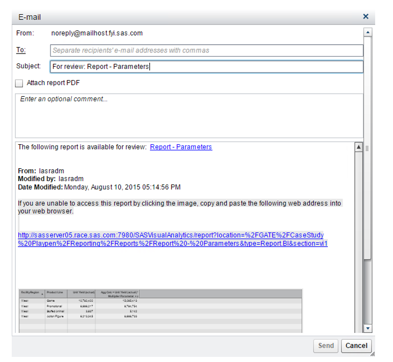 Accessing VA Reports with Parameterized URLs - SAS Users