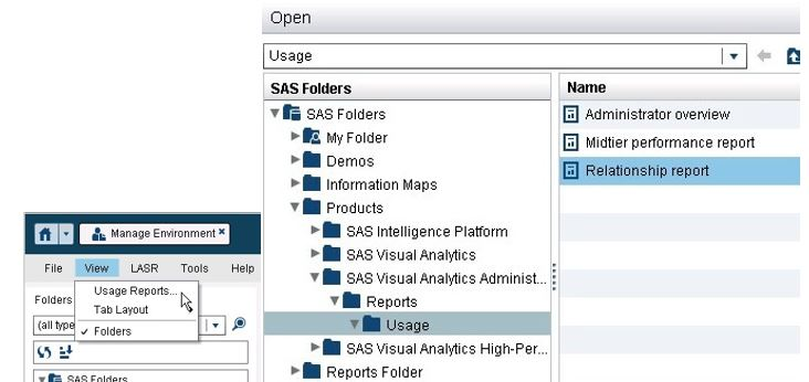 Relationship Report in SAS Visual Analytics