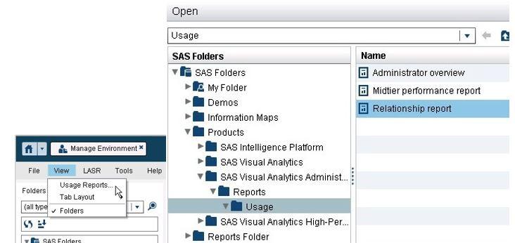 Relationship Report in SAS Visual Analytics