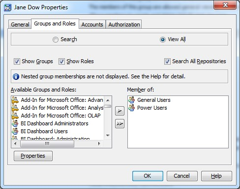 SAS users - Metadata Groups and Roles
