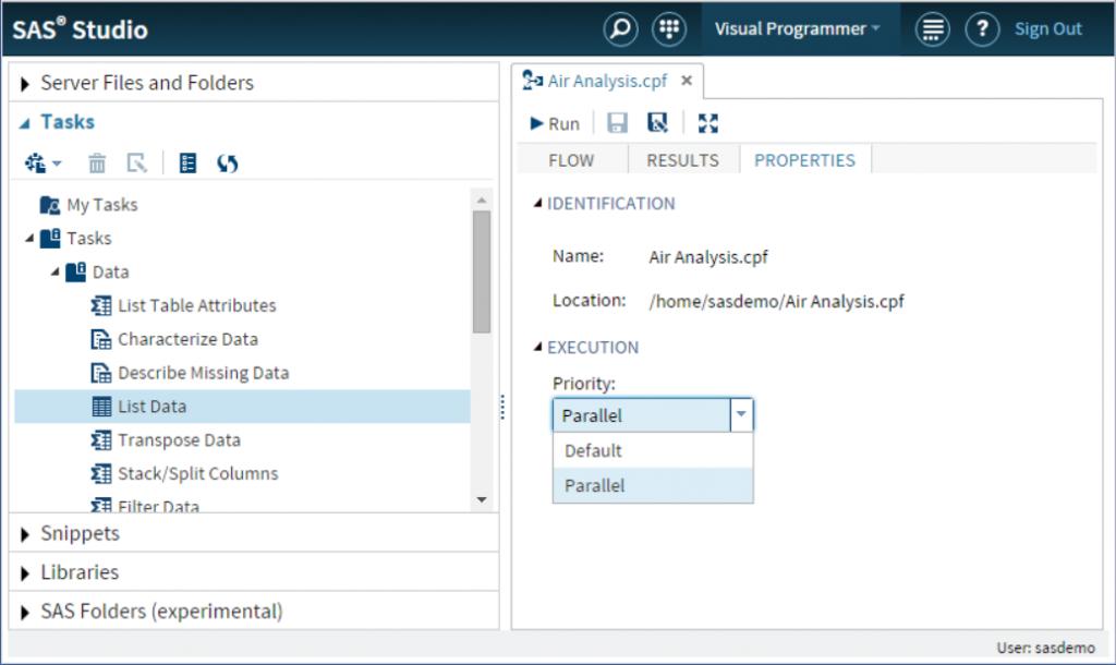 SAS Studio Parallel Process Flows2