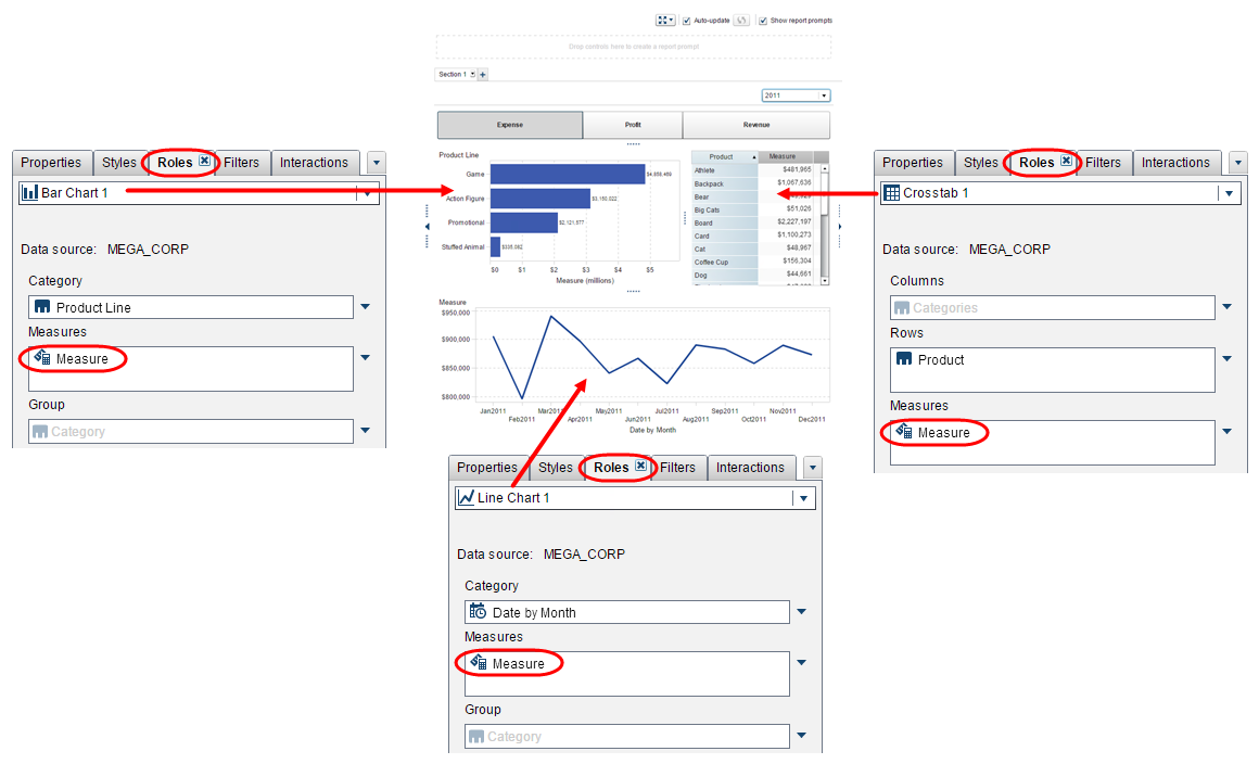 parameters to pick your metric in Visual Analytics Reports12