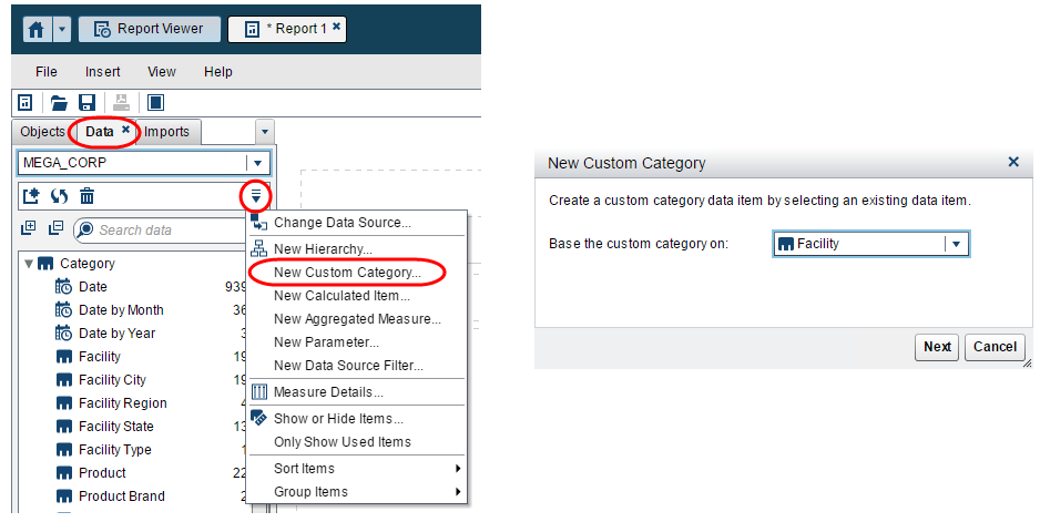 parameters to pick your metric in Visual Analytics Reports2