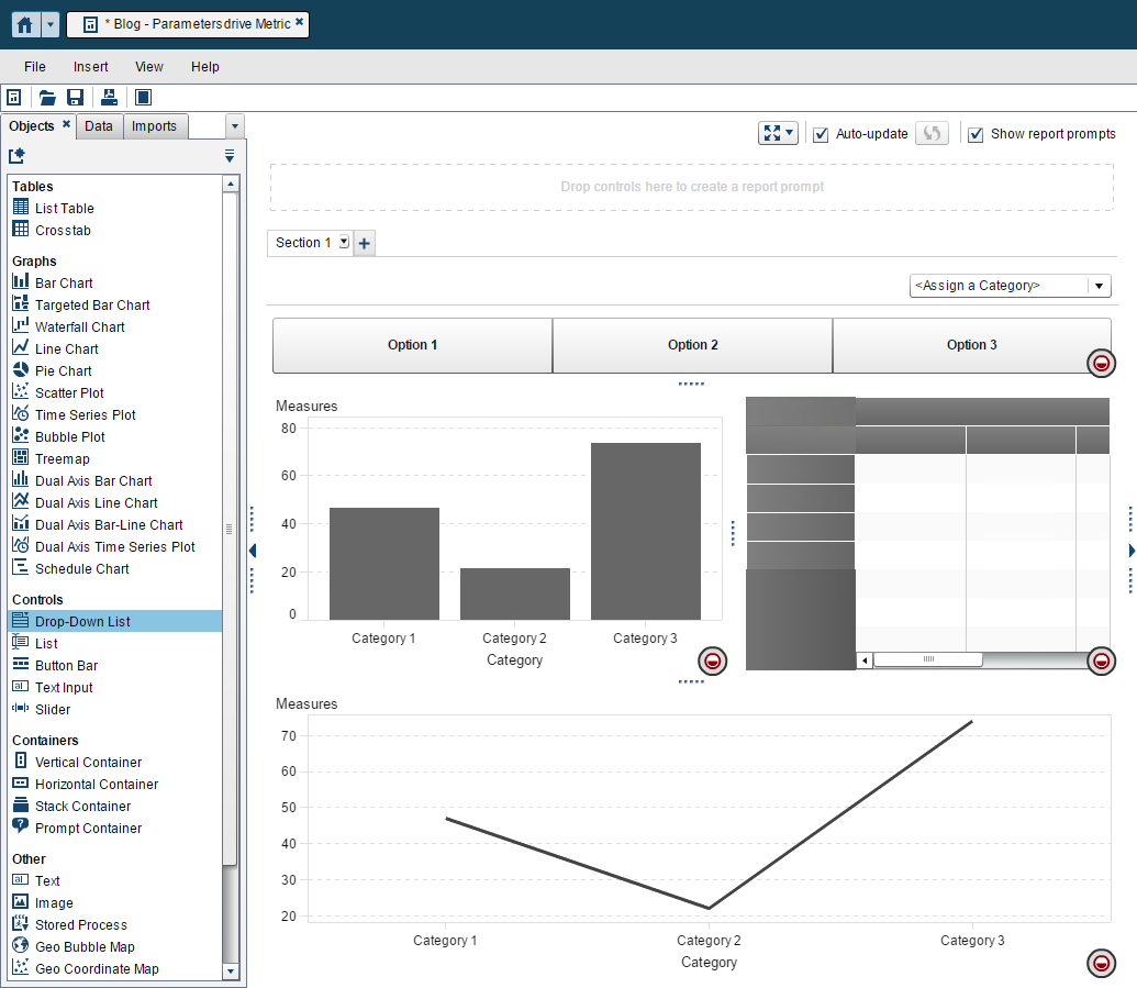 parameters to pick your metric in Visual Analytics Reports7