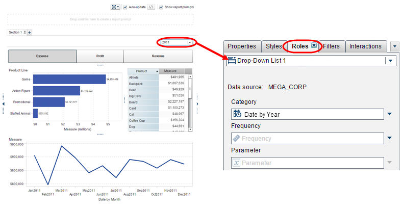 parameters to pick your metric in Visual Analytics Reports9