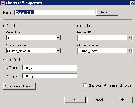 DataFlux Data Management Studio with Cluster Comparison