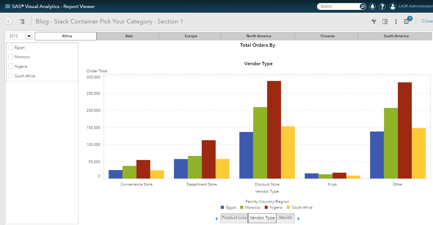 Use a stack container to pick your category in Visual Analytics03
