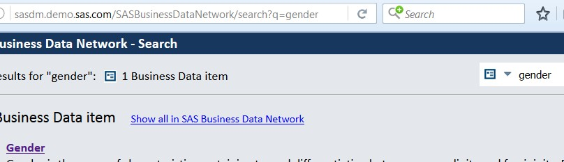 Conduct a google-like web search for business terms with SAS Business Data Network3