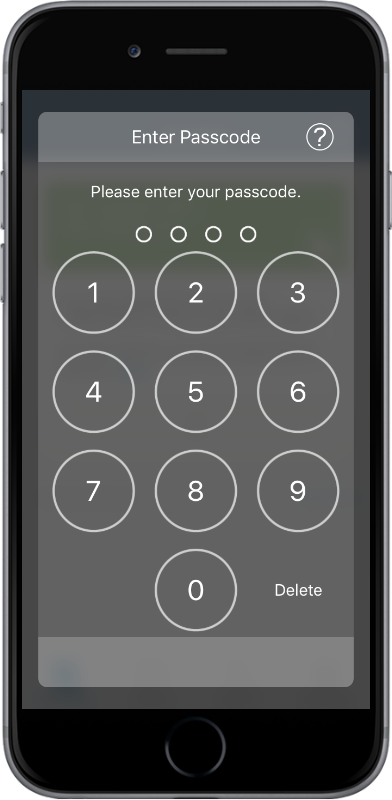 Passcode security for SAS Mobile BI02