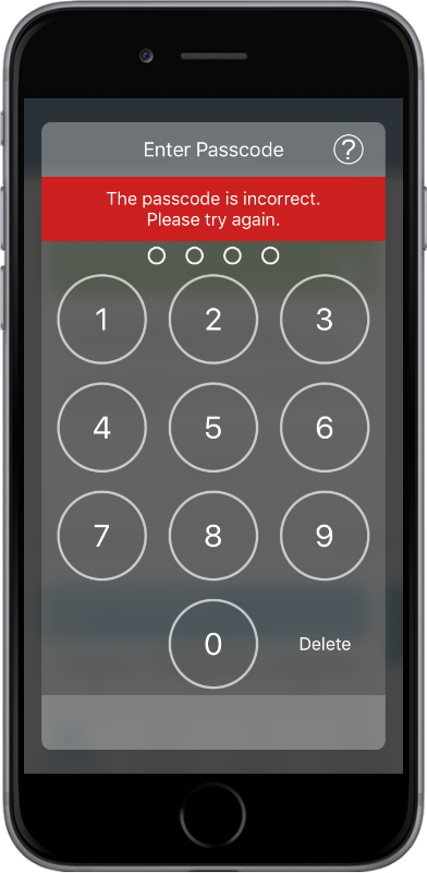 Passcode security for SAS Mobile BI03
