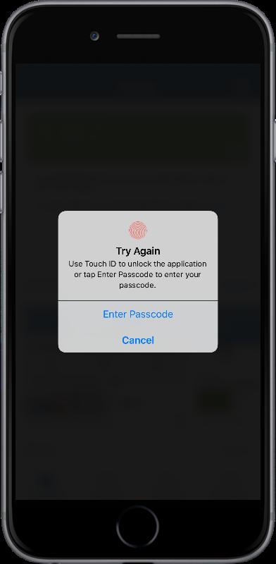 Passcode security for SAS Mobile BI07