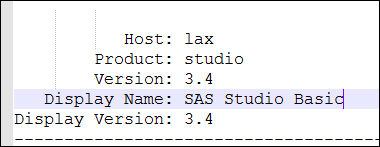Update to SAS Studio 3.5