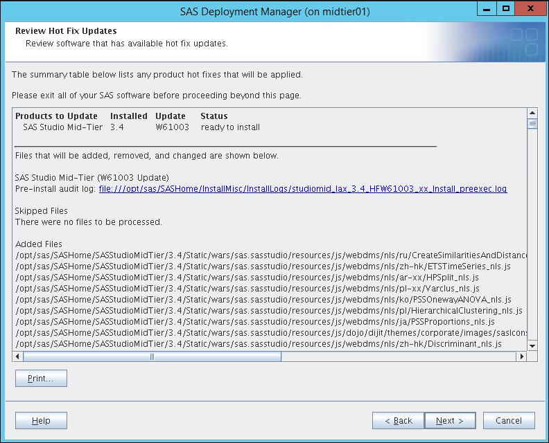 Update to SAS Studio 3.5_3