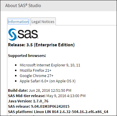 Update to SAS Studio 3.5_5