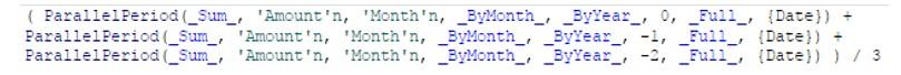 Calculate a moving average using periodic operators in SAS Visual Analytics11